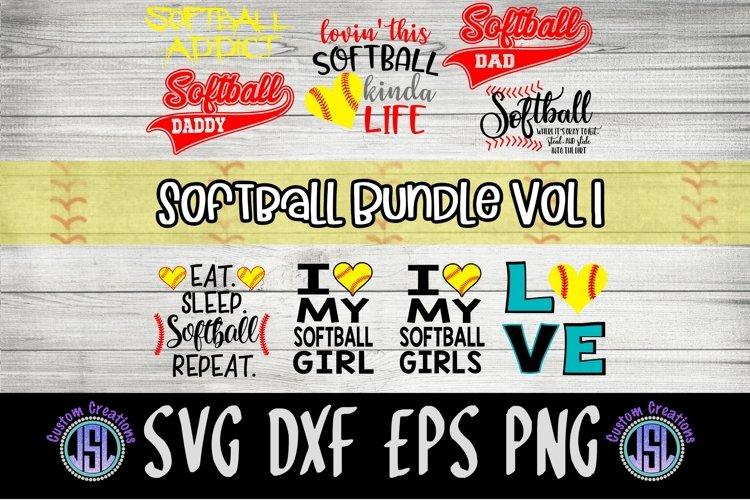 Softball Bundle Vol 1 | Set of 9 | SVG DXF EPS PNG example image 1