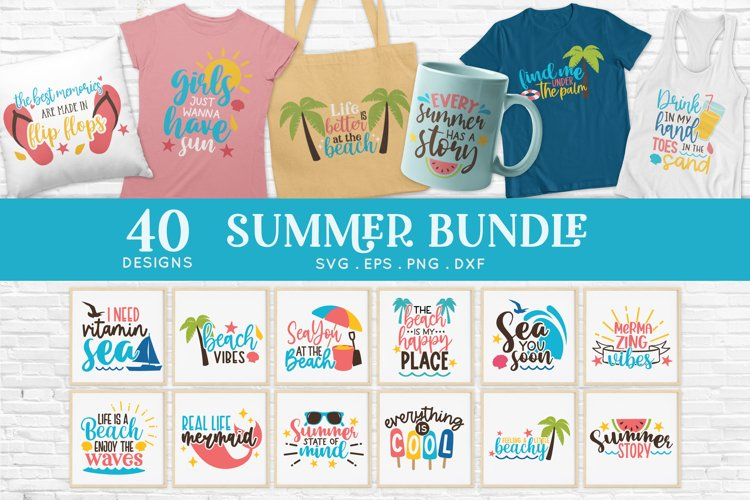 Summer svg bundle - Beach svg png eps dxf