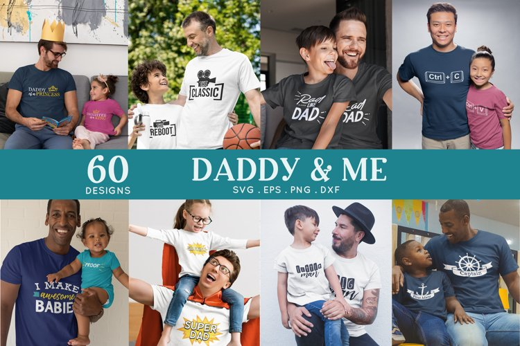 Daddy and Me svg bundle - Father Matching Shirts svg png eps