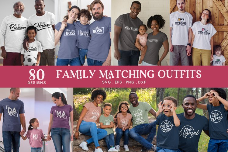 family matching outfits svg eps png dxf - family shirts svg example image 1