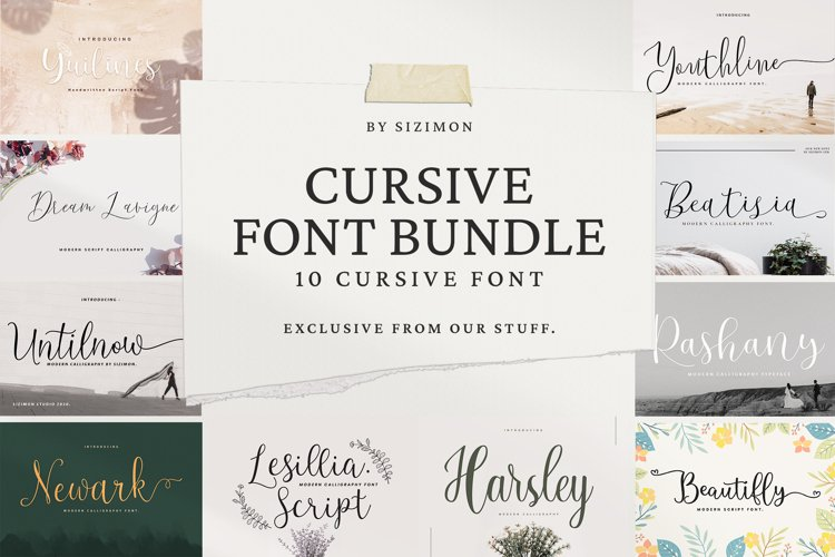 Cursive Font bundle example image 1