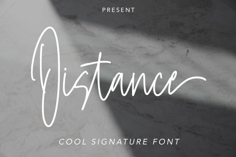 Web Font Distance - Cool Signature Font example image 1
