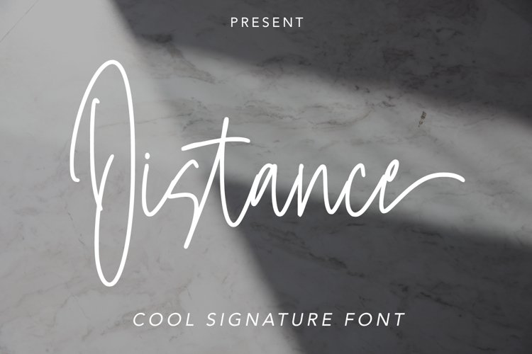 Distance - Cool Signature Font example image 1
