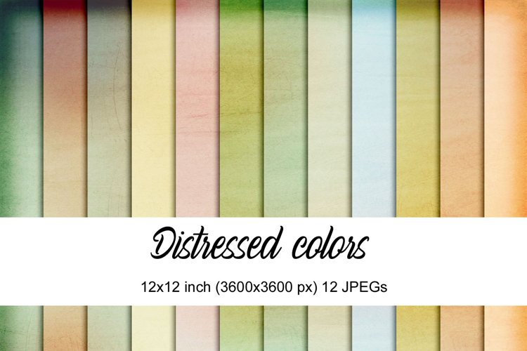 Distressed colors digital papers
