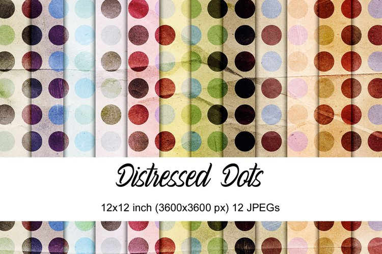 Distressed dots digital papers