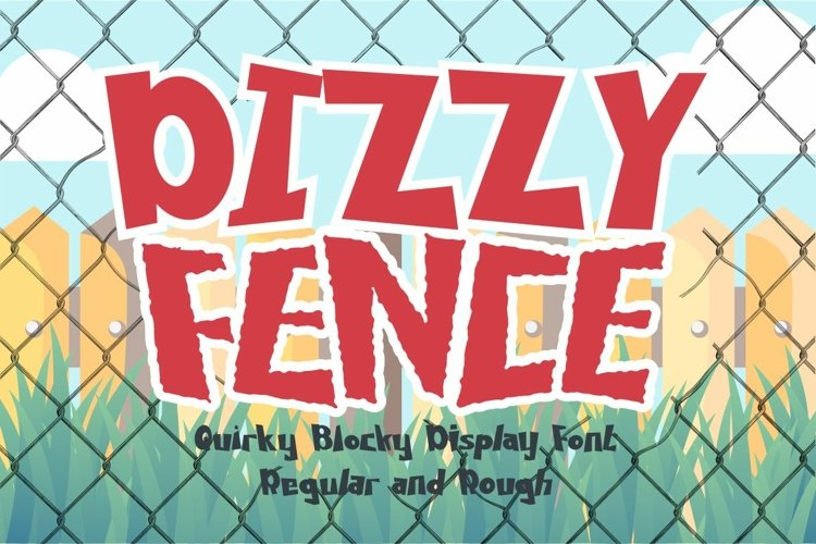 Dizzy Fence - Quirky Blocky Display Font example image 1