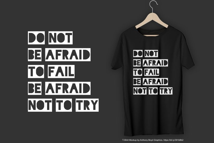 Do Not Be Afraid To Fail Be Afraid Not To Try T-Shirt Design