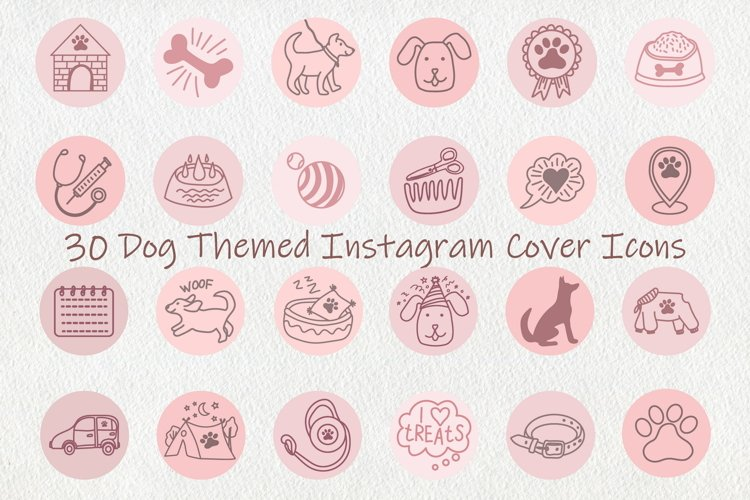 Blush Pink Dog Instagram Highlight Covers Icons