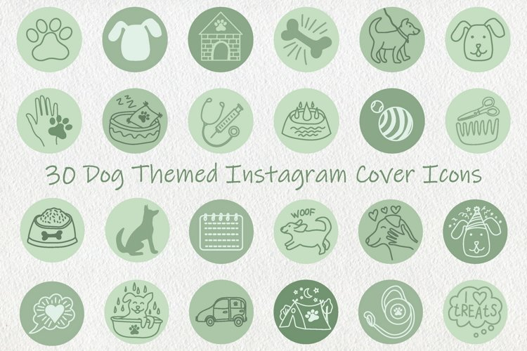 Sage Green Dog Instagram Highlight Covers Icons