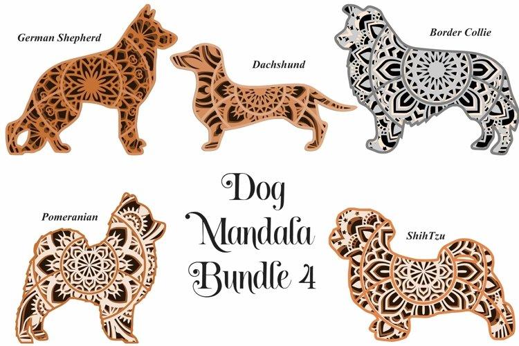 Dog Mandala Bundle Volume 4 - Five Different Breeds example image 1