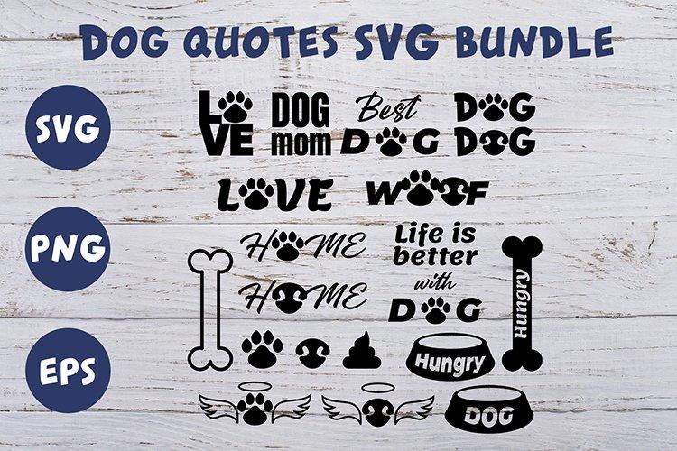 20 Dog quotes SVG bundle