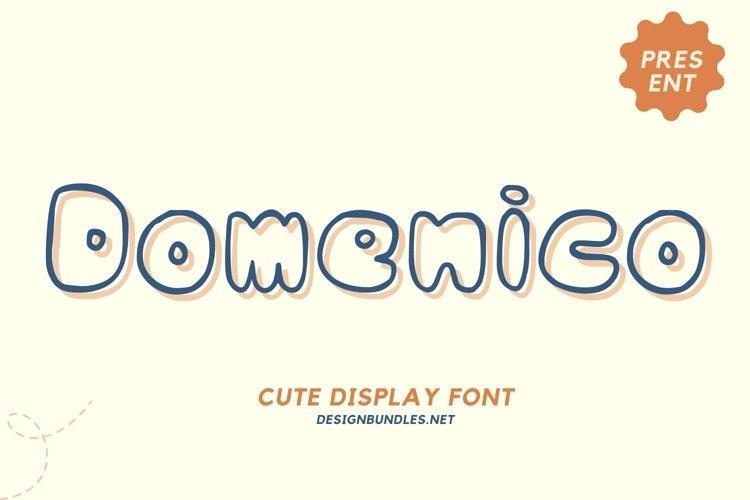 Web Font Domenico Font example image 1