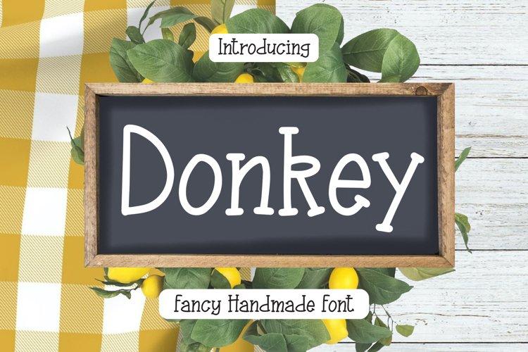 Donkey - Fancy Handmade Font example image 1