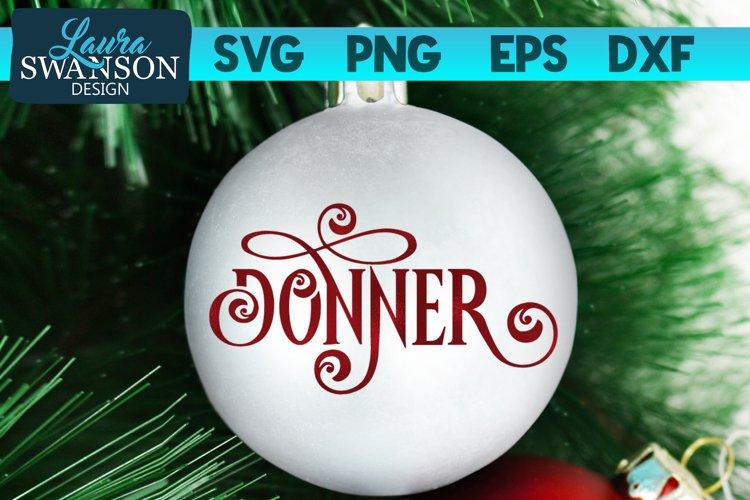 Reindeer Donner SVG Cut File | Christmas Ornament SVG example image 1