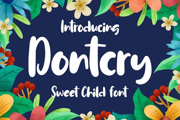 Dontcry - Sweet Child Font example image 1