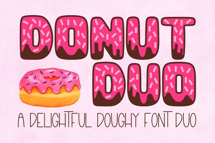 Donut Duo - A delightful Doughy Font Duo!
