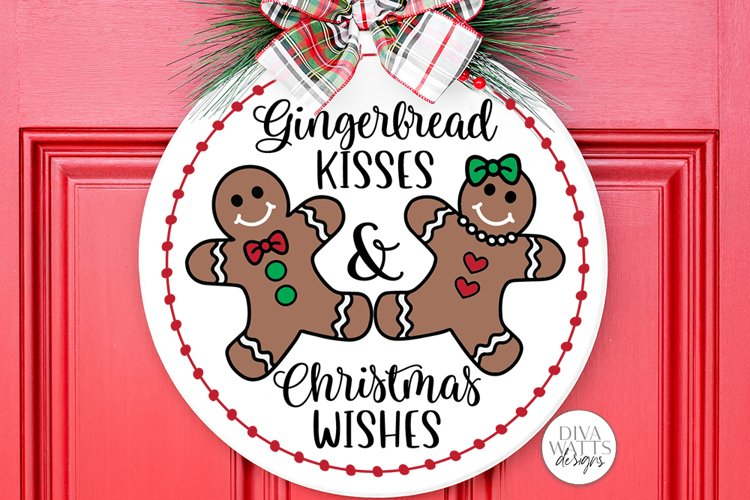 Gingerbread Kisses & Christmas Wishes SVG | Winter Design example image 1