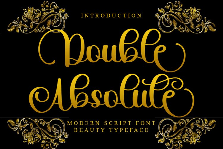Double Absolute - Modern Script Font example image 1