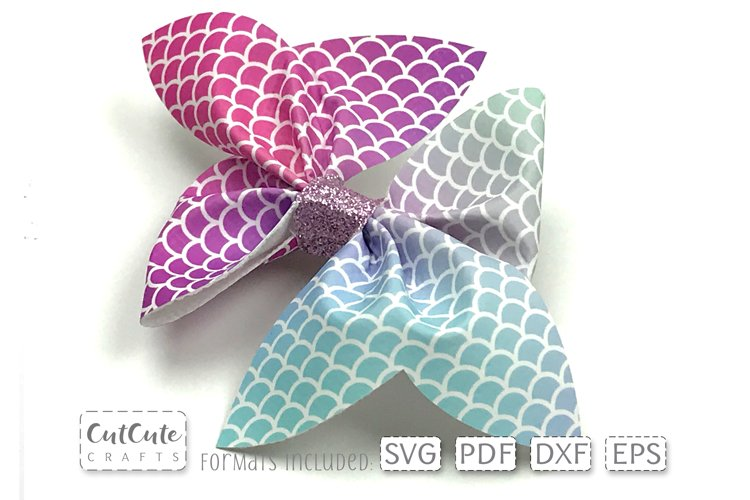 Double Mermaid Pinch Bow SVG Templates cut files