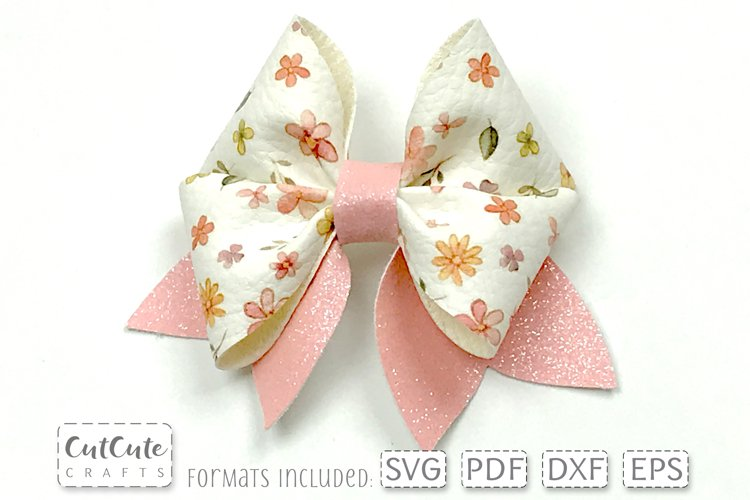 Double Pinch Bow SVG Templates cut files