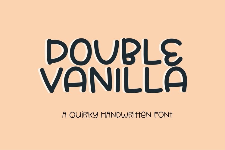 Web Font Double Vanilla - a quirky handwritten font example image 1