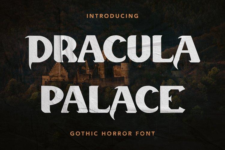 Dracula Palace - Gothic Horror Font example image 1