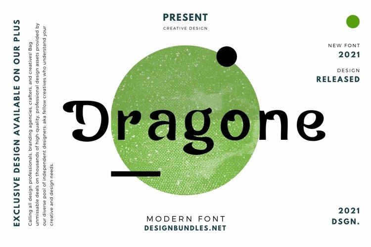 Web Font Dragone Font example image 1