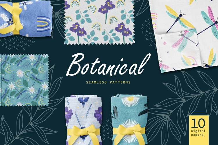 Floral Patterns. Blooming Flowers. Digital paper.