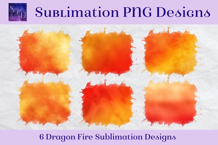 Sublimation PNG Designs - Dragon Fire Images