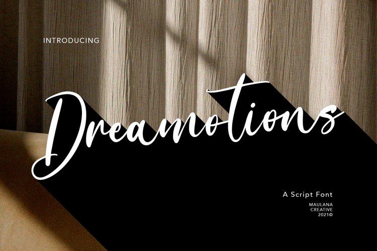 Dreamotions Handwritten Script Font example image 1