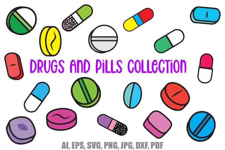 Drugs and Pills Cartoon Logo Collection by Squeeb Creative