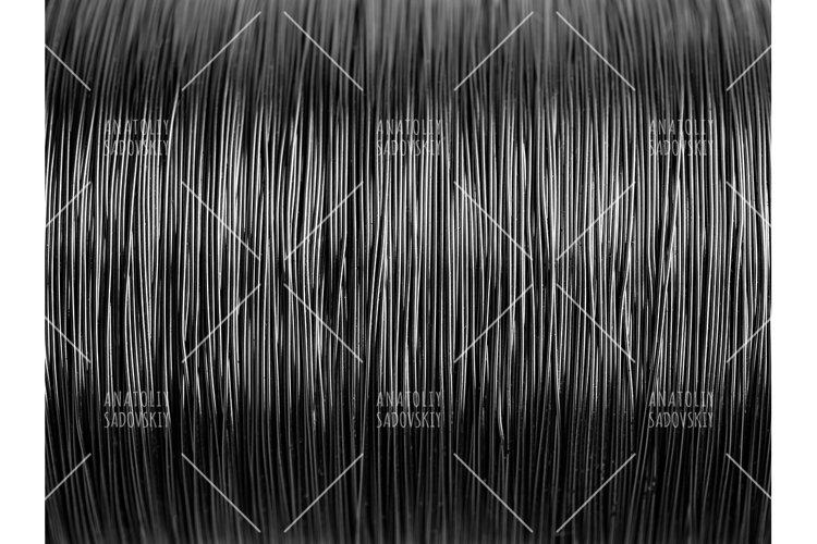 Black and white pattern of metal wire example image 1