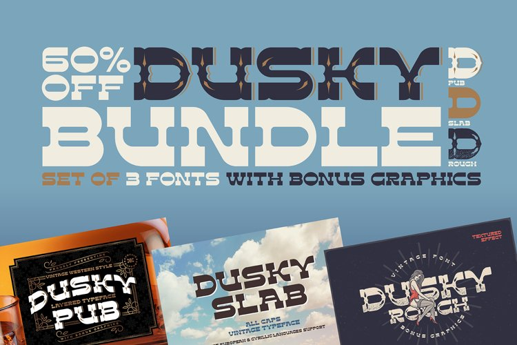 Dusky Fonts BUNDLE! example image 1
