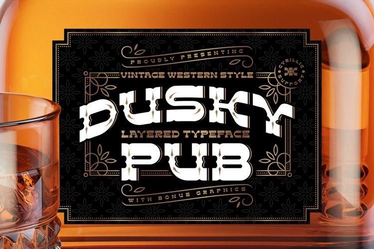 Dusky Pub - Font, Mockup, Label! example image 1