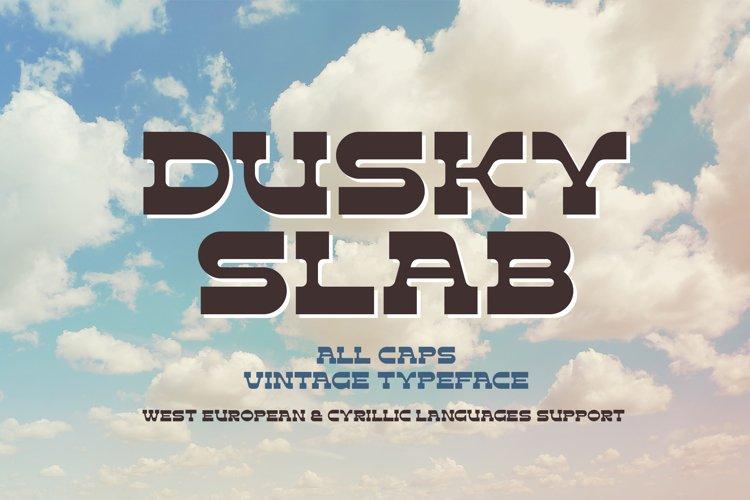 Dusky Slab - vintage font example image 1
