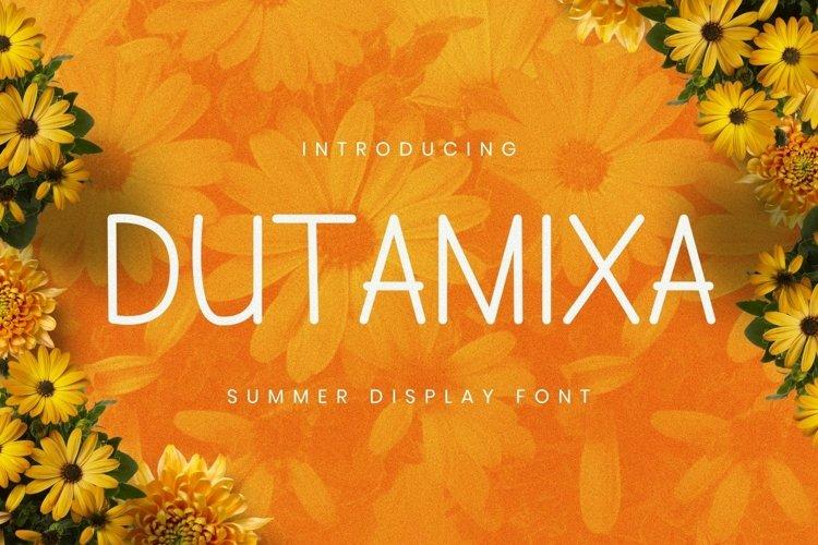 Web Font Dutamisxa Font example image 1