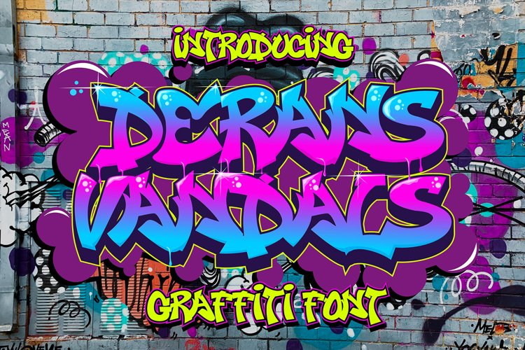 Derans Vandals - Spectacular Graffiti Font example image 1