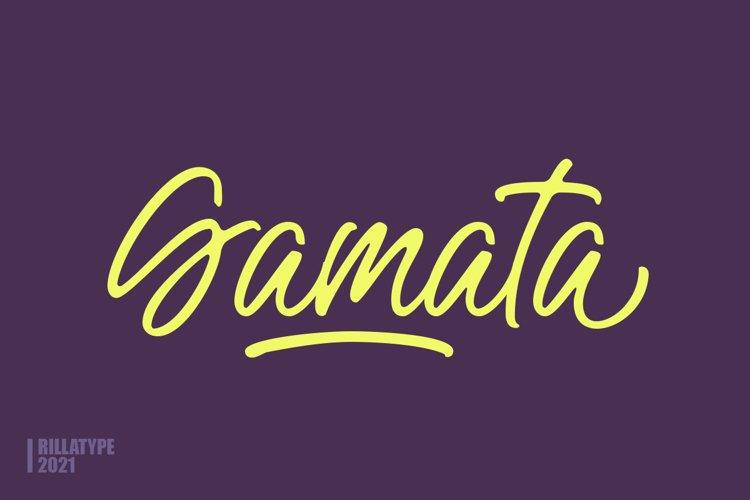 Gamata - Brush Script example image 1