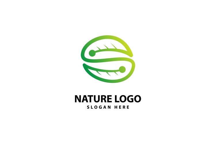 Letter S Leaf Logo example image 1