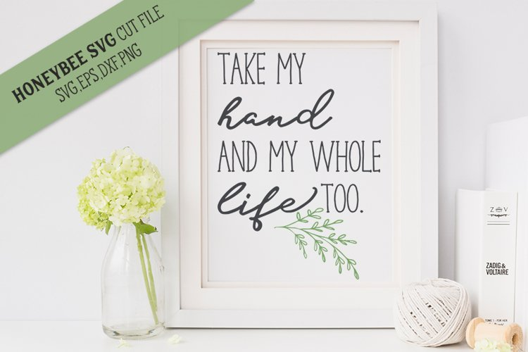 Take My Hand SVG Cut File example image 1