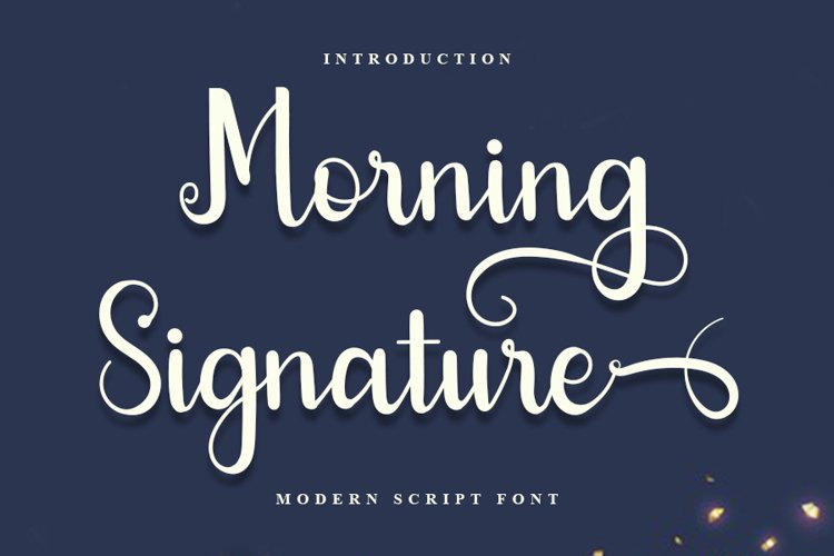 Morning Signature - Moden Script ont example image 1