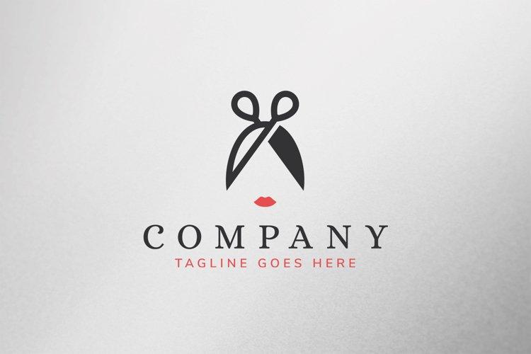 Scissor Girl Logo Template