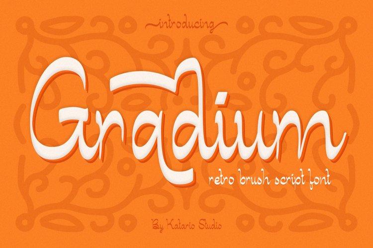 Gradium | Retro Vintage Brush Script Font example image 1