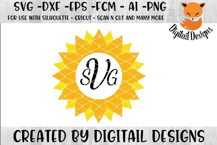 Sunflower Monogram Frame SVG