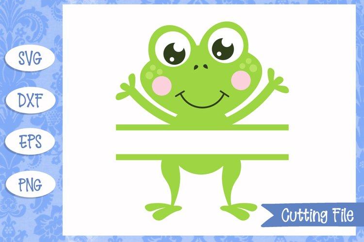 Frog split monogram SVG File example image 1
