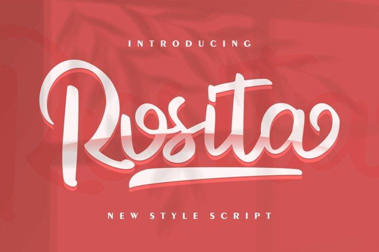 Rosita   New Style Script example image 1