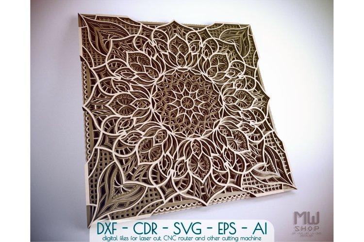 M114 - Mandala DXF Laser Cut Pattern, Flower mandala SVG example image 1