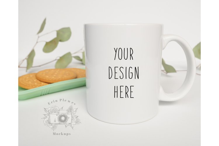 Mug Mockup | 11oz Coffee Cup Mock up with cookies example image 1