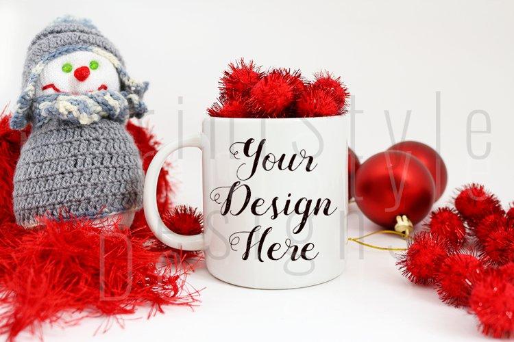 Christmas Styled Mug Mockup, Christmas mug Stock Photo 223