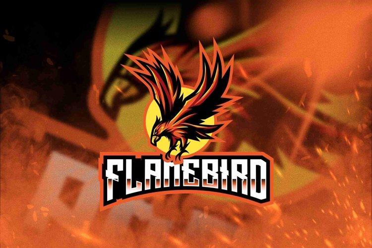 Flame Bird Esport Logo Template example image 1